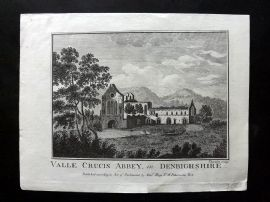 Boswell 1786 Antique Print. Valle Crucis Abbey, in Denbigshire